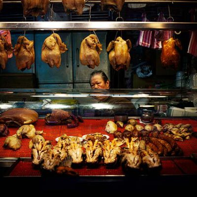 fotografia callejera vendedor de pollos en taiwan